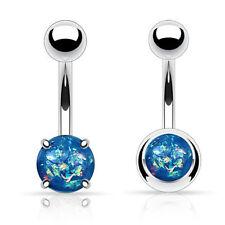 Opal Stainless Steel Bar/Barbell Body Piercing Jewellery