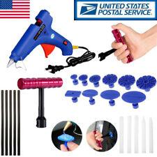 Car Body Dent Removal Paintless Repair Dent Puller tabs Glue Gun  Tools Kit USA
