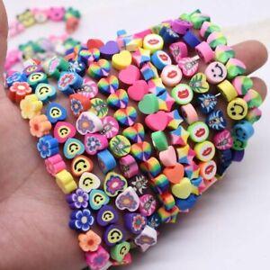 Flower Beads 10mm DIY Findings Clay Fruits Heart Polymer Beads Handmade Jewelry