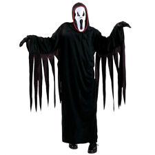 Kinder Scream Kostüm Halloween Gespenst Geist Geisterkostüm schwarz S 128 cm
