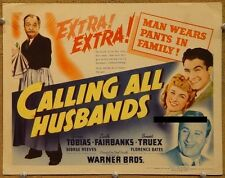 CALLING ALL HUSBANDS, 1940, George Tobias Warner Bros SCARCE US Title LobbyCard*