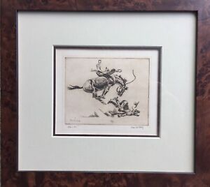 Joe De Yong Etching pencil signed by the Artist