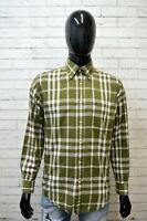Camicia Uomo TOMMY HILFIGER Taglia XL Maglia Polo Shirt Quadri Verde Hemd Cotone