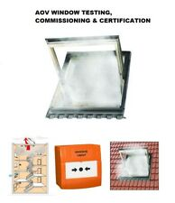 AOV WINDOW COMMISSIONING TESTING & CERTIFICATION SMOKE VENT FAN SMOKE SHAFT