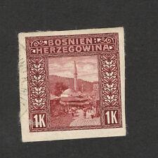 BOSNIA-AUSTRIA-ÖSTERREICH-Bosnia Herzegovina-USED IMERFORATED STAMP-1 K-1906.