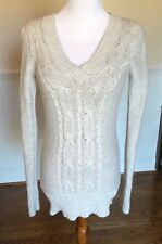 Old Navy Cable Knit Tunic Sweater XS Excellent Condition Heather Gray