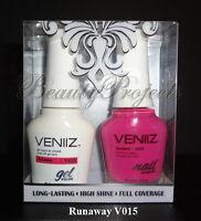 VENIIZ Soak Off Gel Polish Runaway V015 full size 15mL LED/UV matching gel duo
