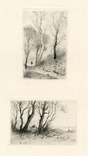 Henri Harpignies original etching