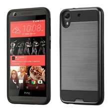 NEW For htc Desire 626 626S 530 BLACK Brushed Hybrid SKIN ACCESSORY COVER CASE