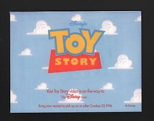 Disney Pre-Purchase VHS Release Receipt Envelope - Toy Story 1996