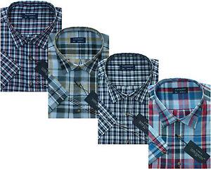 Mens King Size Yarn Dyed Short Sleeve Summer Check Shirts 3XL - 6XL By Tom Hagan