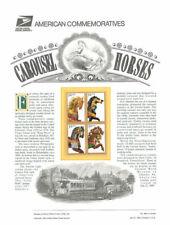 #464 32c Carousel Horses #2976-2979 USPS Commemorative Stamp Panel