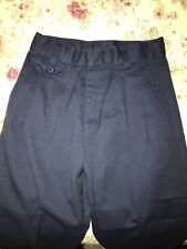 Genuine School Uniforms Pleated Front Pants Girls Navy Adjustable Waist Sz 6x