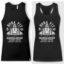 Boba Fit GYM Workout Tank Tops Star Wars Mandalorian Train Center Men Women Tops