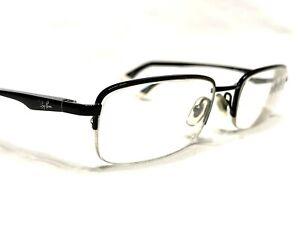 Ray Ban RB6133 2509 Men's Black Half Rim Rx Eyeglasses Frames 51/19~140