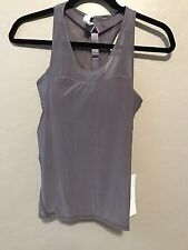 NWT Lululemon Size 6 Light N Breezy Tank Bra *TWO PIECES* Gray Mesh MAG $68