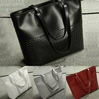 New Women's Ladies Large Leather Style Shoulder Tote Bag Satchel Handbag