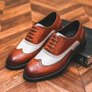 British Men's Formal Leather Shoes Casual Business Office Pu Shoes Lace Up Chic