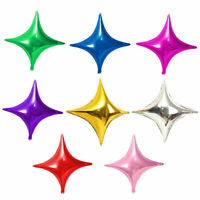 Balloons 5PCS Star Balloon Party Decoration Four-pointed 10inch Foil Wedding