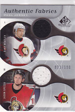 2005-06 SP Game Used Authentic Fabrics Dual #DJ Dany Heatley/Jason Spezza 21/100