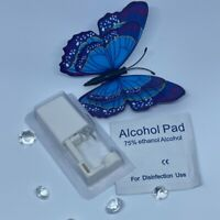 Disposable Nose Piercing Tool Kit With Stud & Alcohol Pad Safe Sterile Easy Use