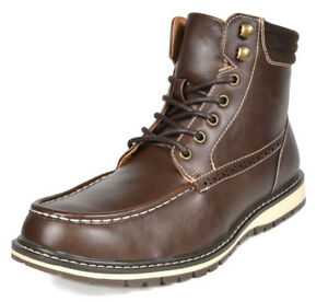 Bruno Marc Fashion Mens Lace Up Motorcycle Military Combat Ankle Boots 6.5-15 US