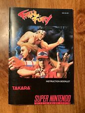 FATAL FURY Custom Replacement Game Instruction Manual Only For Super SNES