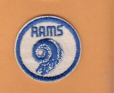 1950s OLD LOGO LOS ANGELES LA RAMS STITCHED PATCH UNUSED UNSOLD STOCK