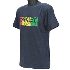 Oakley THERMO PILOT T-shirt Size M Medium Blue Marle Regular Fit Mens Cotton Tee