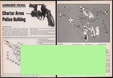 1982 Charter Arms Police Bulldog Revolver Exploded View~Parts List~Article