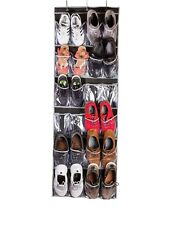 24 Pocket Over the Door Shoe Organizer Rack Hanging Storage Space Saver Hanger B