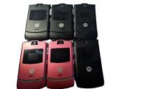 6 Lot Motorola Razr V3 Flip Phone At&T Wholesale used Need Minor Repairs Complet