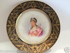 Antique Sevres Imperial Hand Painted Porcelain Potrait Plate Empress Josephine
