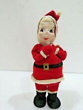 "Vintage Christmas Santa 11"" Felt Dream Dolls Japan Decoration #A3364"