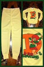Vintage Girls Thermal Underwear Top & Bottom Pant Yellow Long Sleeve 1980 NEW 10