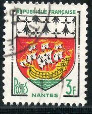 STAMP / TIMBRE FRANCE OBLITERE  N° 1185 BLASON NANTES
