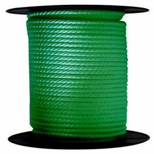 """ANCHOR ROPE DOCK LINE 1/4"""" X 500' BRAIDED 100% NYLON GREEN MADE IN USA"""