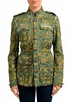 Just Cavalli Multi-Color Patterned Button Down Women's Basic Jacket US S IT 40