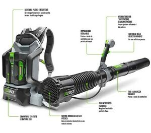 Blower Ego Battery Powered Professional Engine Brushless LB6000E Backpack