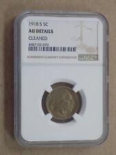 1918 S 5C BUFFALO NICKEL NGC AU DETAILS