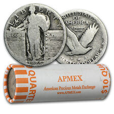 90% Silver Standing Liberty Quarters 40-Coin Roll (w/Dates) - SKU #11168