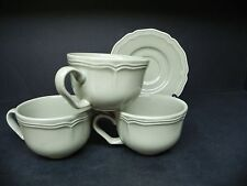 William Sonoma Baroque Green 3 Cups and 1 Saucer   ..