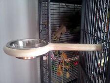Snack-N-Perch bird feeder perch,Parrots,parakeets,Cockatiel,bird cage,bird toys