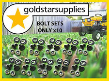 Ride on Mower bolt, nut & washer sets x 10 to suit Greenfield Ride-on mowers