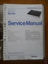 Service Manual Philips N2515 Cassetten Record,ORIGINAL