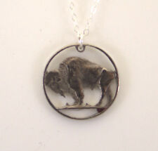 Cut-Out Coin Jewelry - Buffalo Nickel with Rim