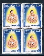 Sri Lanka 1996 Anniv of UNICEF BLK 4 SG 1345 MNH