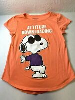 Peanuts Snoopy Girls Size L 12 T Shirt Pink Peach Attitude Downloading