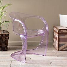 Modern Design Transparent Purple PC Curvy Accent Ghost Chair