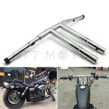 "12"" Rise T-Bars Handlebar Drag Bar For Harley 96-17 Sportster Dyna Softail Chrom"